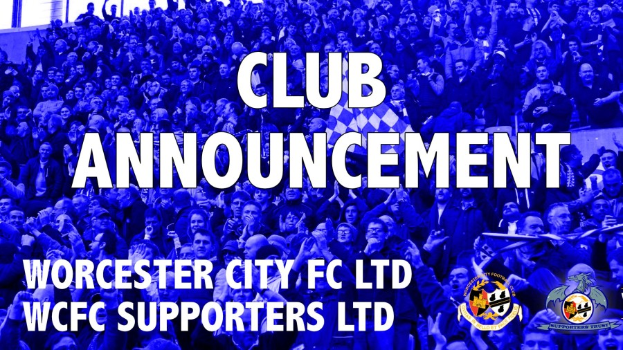 CLUB ANNOUNCEMENT